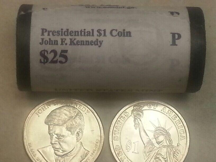 2015 P Lyndon B Johnson Presidential Dollar Unopened Mint Roll of 25 Coins