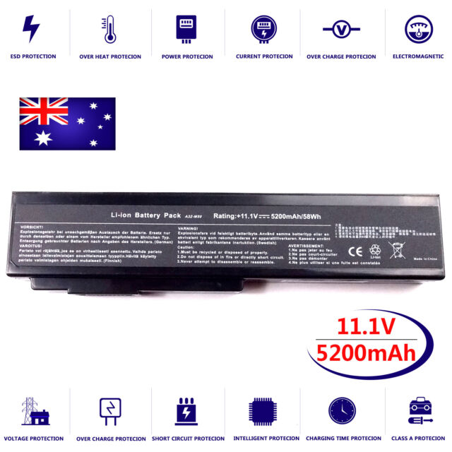 Notebook Battery for Asus G50 M50SR M60VP N53S N61J N61JQ-B1 N61VN-A1 X57 X64