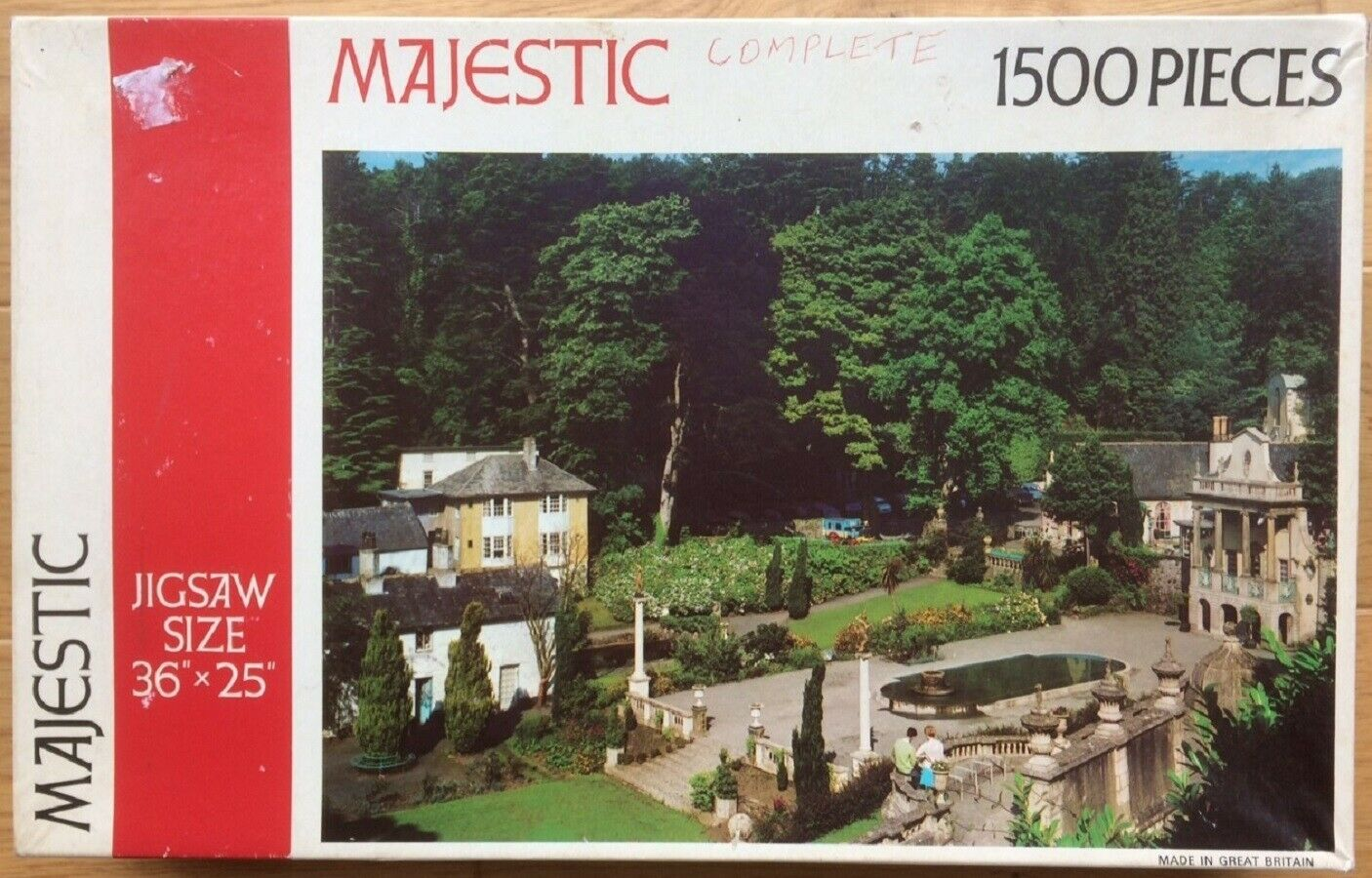 Portmeirion (The Prisoner) 1950s 60s jigsaw Complete Majestic 1500 pieces