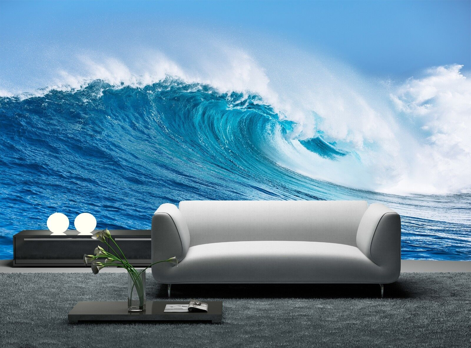 Ocean Wave  Photo Wallpaper Wall Mural DECOR Paper Poster Free Paste