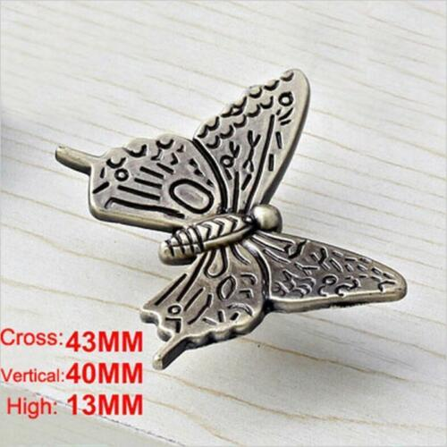 Pull LC Butterfly Door Knobs Drawer Cabinet Cupboard Furniture Kitchen Handle