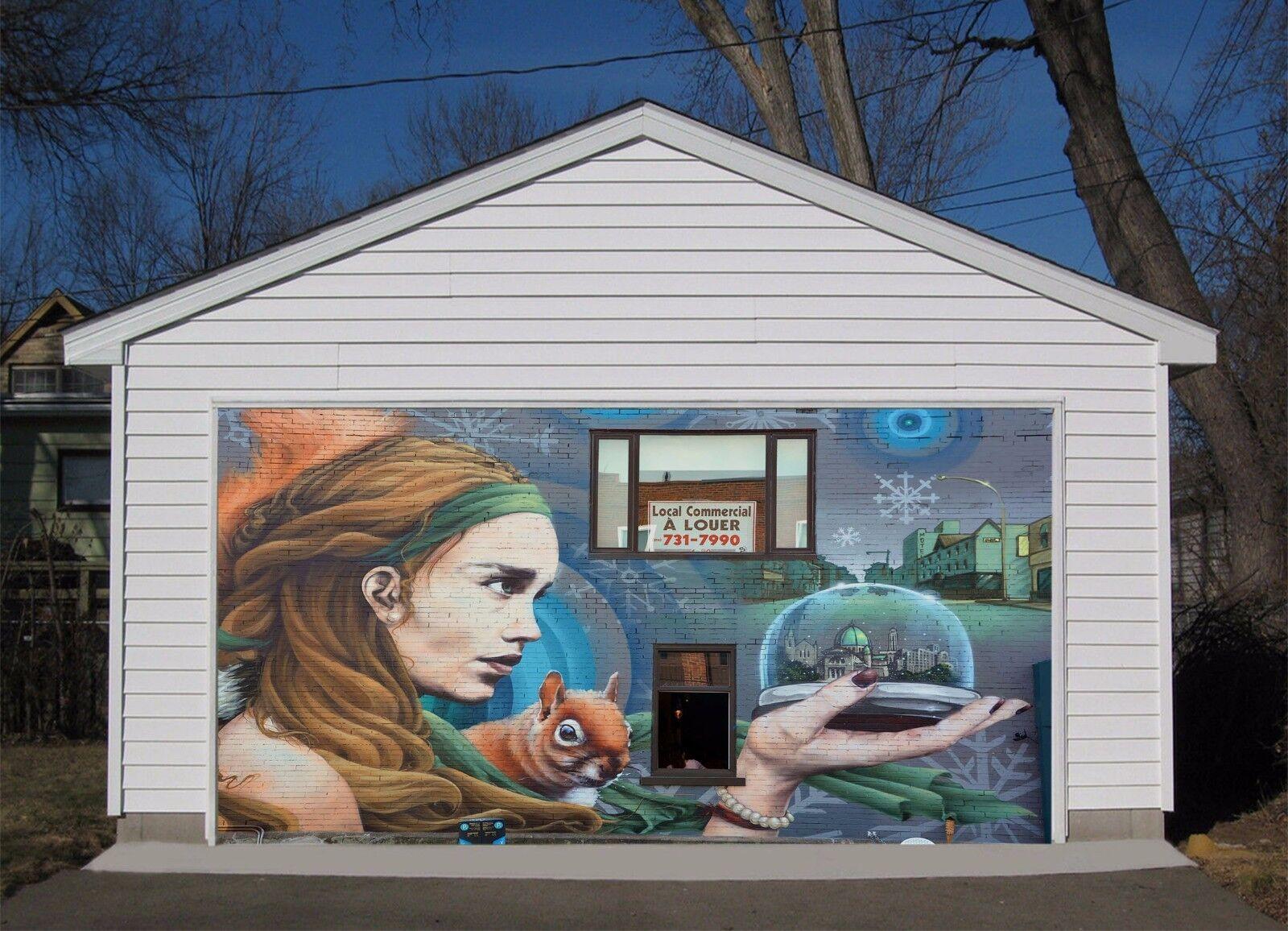 3D Room Girl  722 Garage Door Murals Wall Print Decal Wall AJ WALLPAPER UK Carly