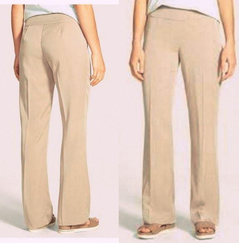 Eileen Fisher Limestone Lightweight Tencel Twill Straight Leg Pants S, L, XL