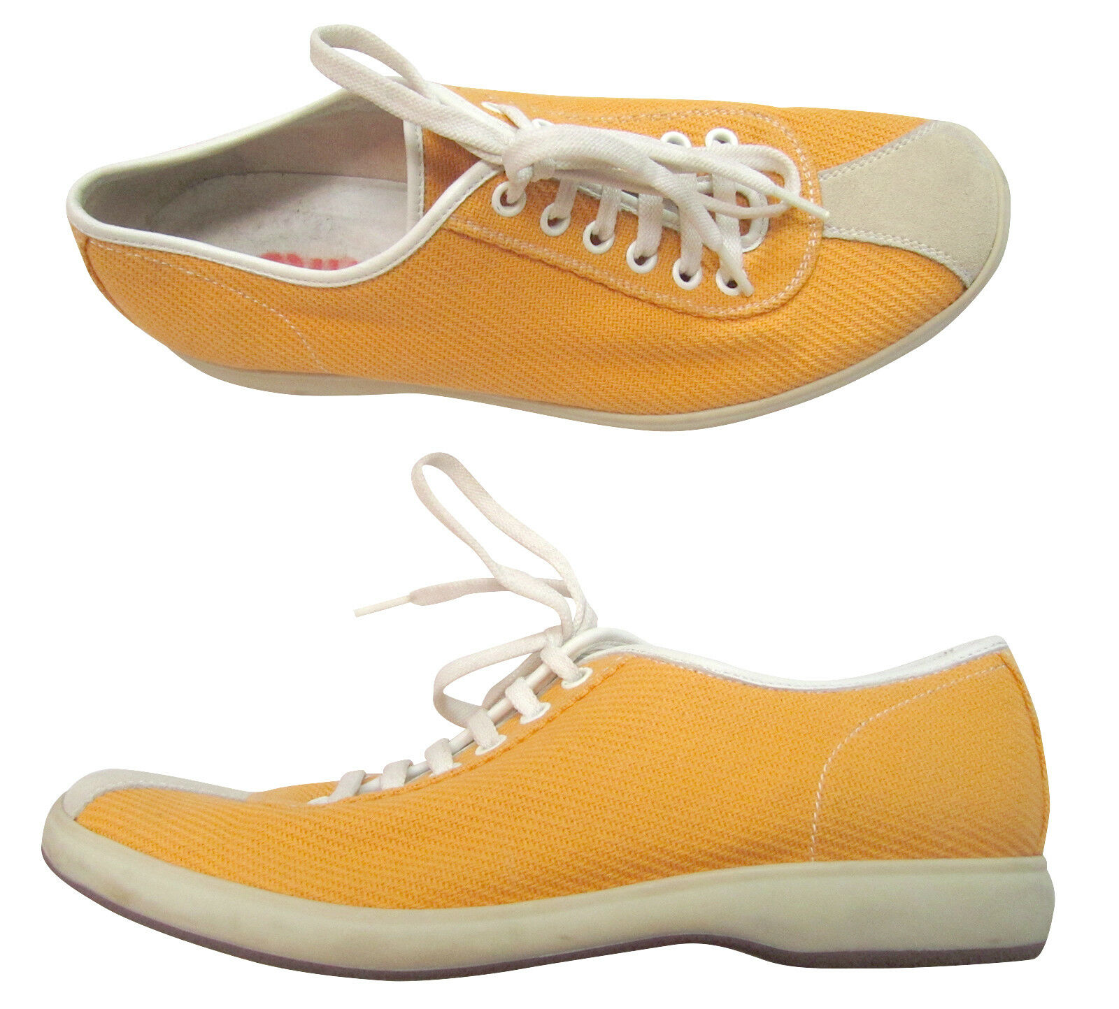 MIU MIU Golden Yellow Canvas femmes  Sneakers, Taille 38 (US 8)