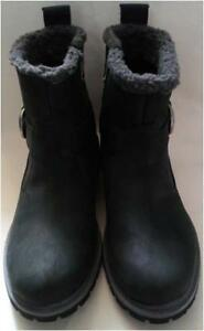 Upper New Boots Black Leather Size Timberland Womens 6 Zip Waterproof Ht6HOxr