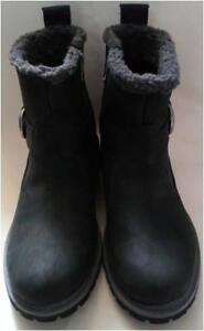 New 6 Womens in cerniera impermeabile pelle neri stivali taglia nera Timberland con PPwrxOAq41