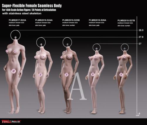 Phicen 1//6 Steel Skeleton Seamless Suntan Mid Bust S25B Female Body Toy TBLeague