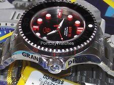 Invicta Mens 47mm Grand Diver Gen II Automatic Watch Black Dial S.Steel Bracelet