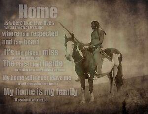 Home rustic wall decor 24x18 Native American Art Poem inspirational
