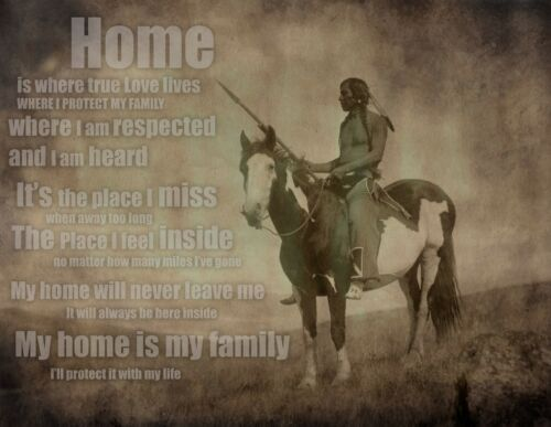 rustic wall decor Poem 24x18 Native American Art inspirational Home