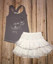 3 POMMES 3POMMES GIRL COUTURE Studded Tank Top & Sequin Skirt Set Size 6 Sparkle