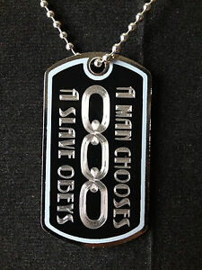 BioShock A Man Chooses A Slave Obeys Dog Tag Necklace Video Game Handmade