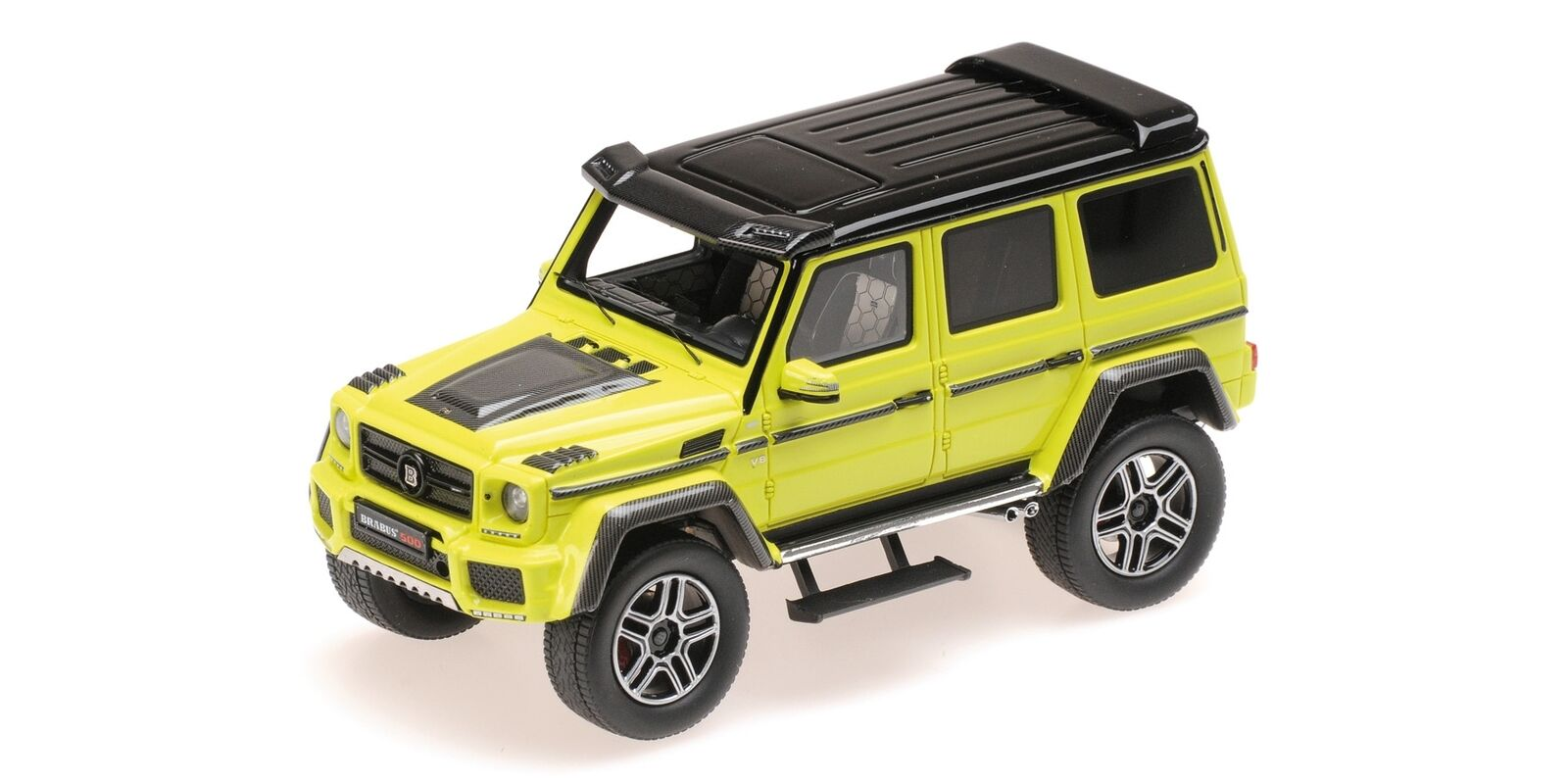 Brabus 4X4 Auf Basis Mercedes Benz G500 giallo 2016 MINICHAMPS 1:43 437032464