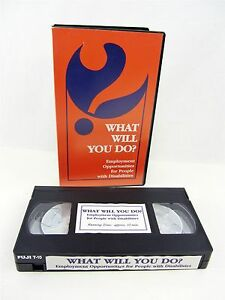Vhs What Will You Do Employment Opportunities For People With Disabilities Ebay