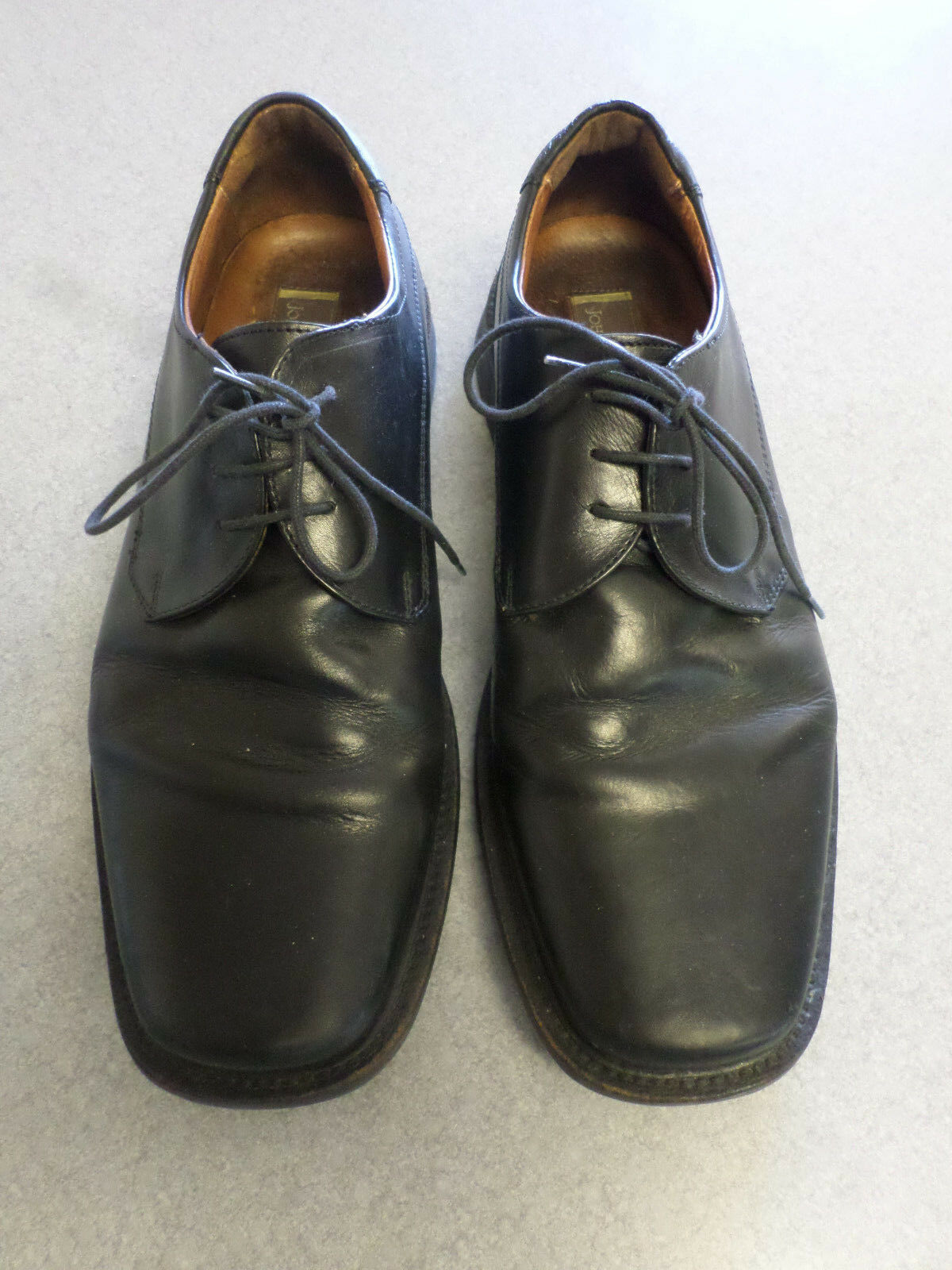 Johnston and Murphy black leather, square toe oxfords, Men's 11 M