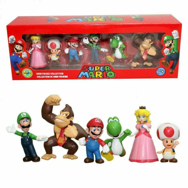 Super Mario Bros Lot 6//12pcs Action Figure Doll Playset Figurine Toy Collection