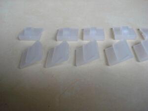 Lotto-di-10-ganci-PVC-trasparente-per-manifesto-e-POS-su-false-soffitto
