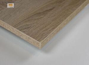 Das Bild Wird Geladen Tischplatte Sonoma Eiche Dekor Spanplatte Beschichtet 19 Mm