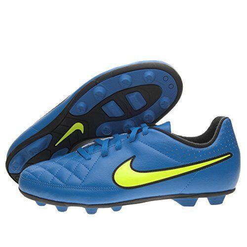 Identidad Opresor Preludio  Nike JR Tiempo RIO II FG-R Soccer Cleats 631286 470, Blue, US 5.5Y (H61-NS)  for sale online