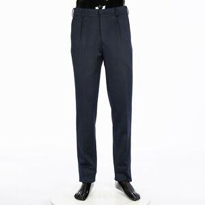 LORO-PIANA-1025-City-One-Trouser-In-Navy-Blue-Cotton-Silk-Virgin-Wool