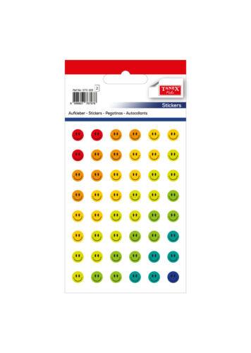 TANEX Kids STC 222 Autocollant sticker Smiley paillettes 96 pièces