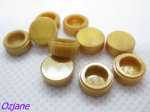 LEGO PART 98138 PEARL GOLD TILE ROUND 1 X 1 FOR 10 PIECES NEW