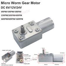 Dc 6v 12v 24v Mini 370 Turbo Worm Gearbox Reduction Gear Motor High Large Torque