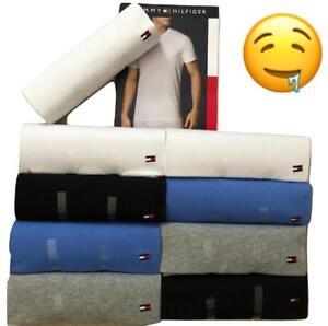 1-New-Tommy-Hilfiger-Men-039-s-T-Shirt-Tee-XS-S-M-L-XL-Cotton-Classic-Fit-crew-neck