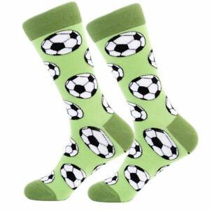 Mens-Womens-Cool-Bright-Funny-Soccer-Ball-Happy-Funky-Crew-Socks