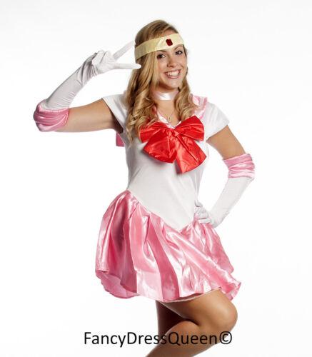 Rini Chibiusa Sailor Chibi Moon Cosplay Pink Sailor Moon Costume 8//10//12//14//16