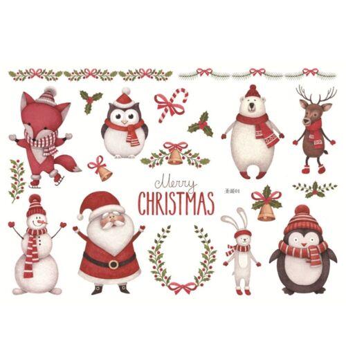 Weihnachten Sticker Aufkleber Zettel DIY Basteln Scrapbook Tagebuch Alben Deko