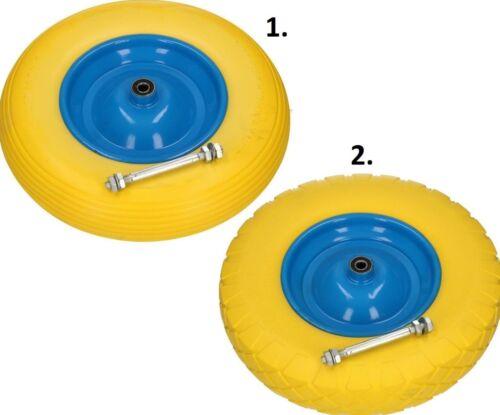 Schubkarrenrad Schubkarre Ersatzrad Vollgummi Reifen 4,00-8 PU mit Achse