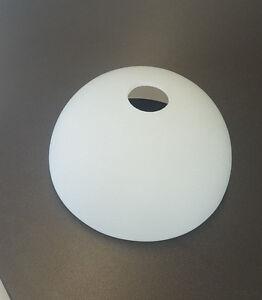 glas lampenschirm ersatzglas halb schale wei e14 lochma. Black Bedroom Furniture Sets. Home Design Ideas