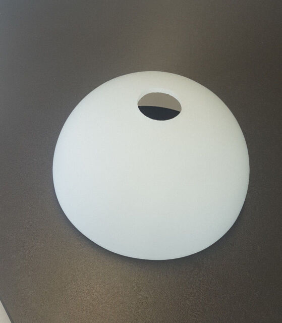 Glass Lampshade Replacement Semi Dish White E14 Hole Dimension Frame ...