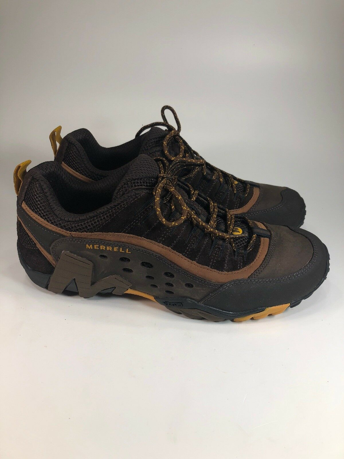Merrell Axis 2 Nearly NEW Espresso Vibram Trail Running shoes Mens Size 11 M