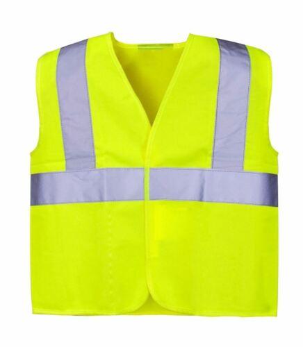 Unisex Hi Vis Viz Junior Vest Kids Sleeveless Cycling Safety Jacket Waistcoat