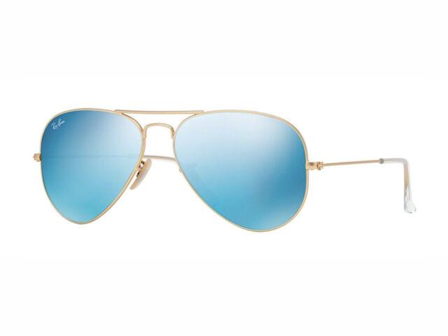 7cc707dc05 gafas de sol Ray Ban RB3025 AVIATOR GRANDE DE METAL espejo azul oro 112/17