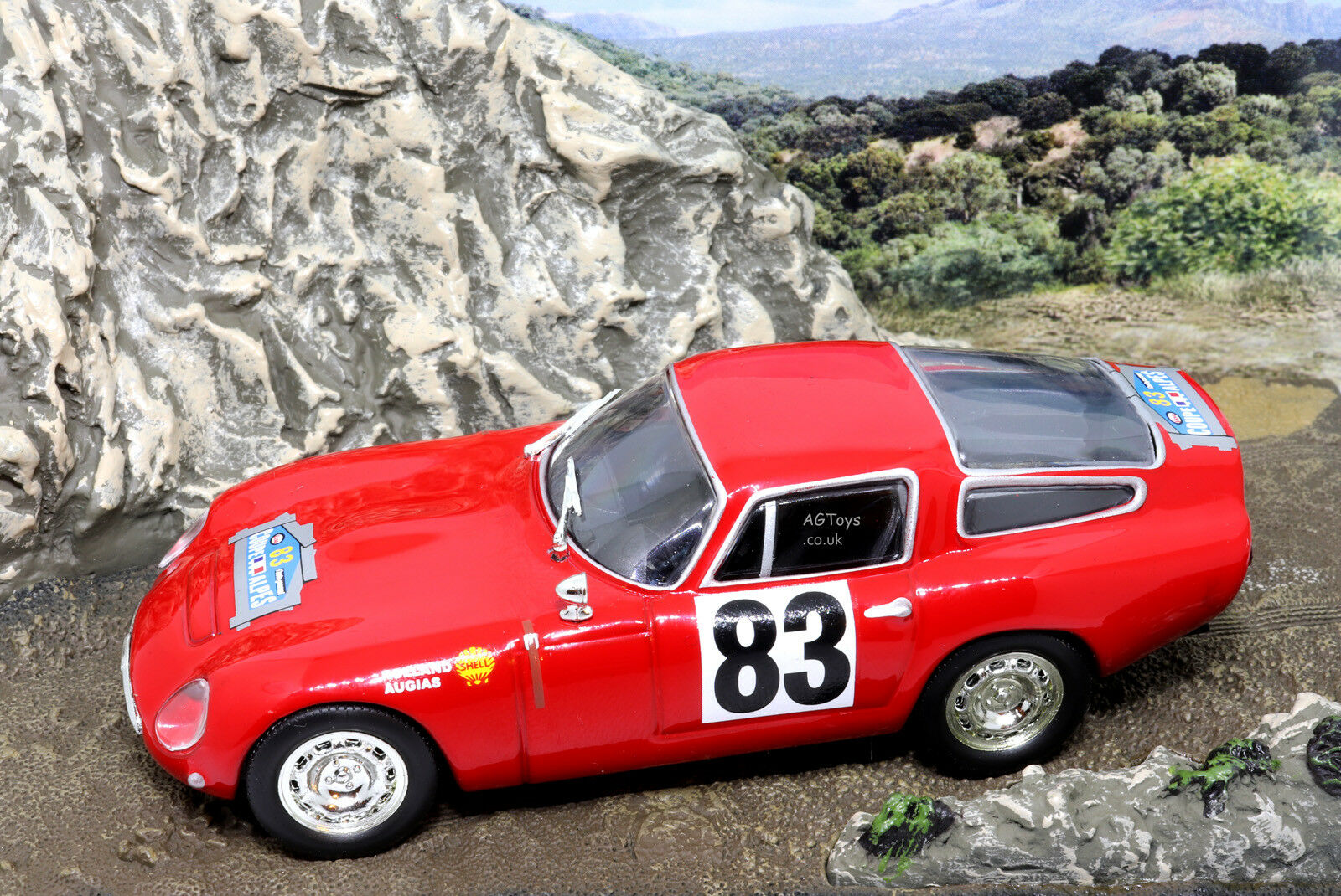 Rally Car Collection Alfa Romeo TZ Coupe Des Alpes 1964 J.Rolland 1 43 Model