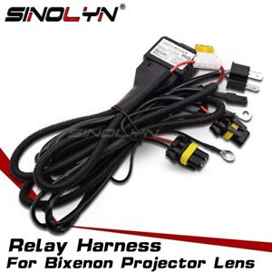 Car-12V-35W-55W-Relay-Harness-Wiring-For-Bixenon-Bulbs-Projector-Lens-Controller