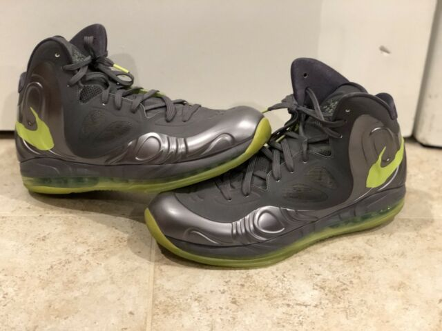 super popular d4ade 59666 Nike Air Max Hyperposite Charcoal Gray Green Sz 12 Foamposite Zoom RARE