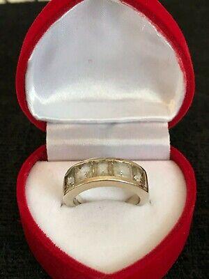 Q O1//2 P1//2 White Topaz 925 St Silver ring S.