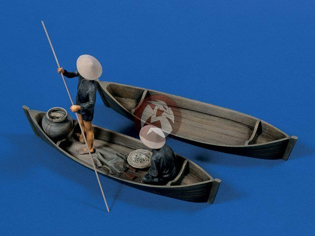 Verlinden 1 35 Viet Cong in Small River Boats (2 Figures) [Resin Model kit] 570