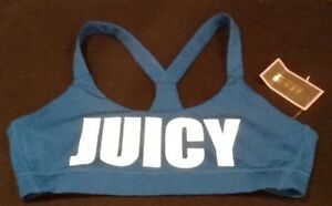 758d500a7a NWT Juicy Couture Sport Block Letter Logo Sports Bra. Size Medium