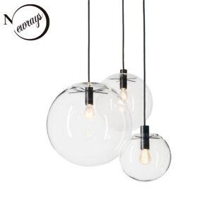 Clear Gl Ball Pendant Light