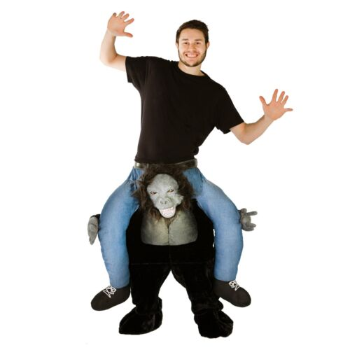 Adult Stuffed Gorilla Ride Me Carry On Costume Outfit Suit Halloween One Size