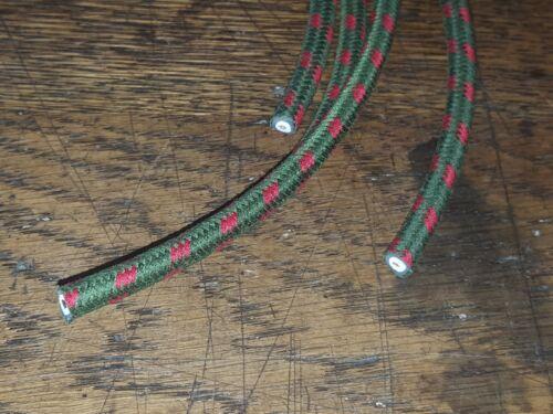 1920 S vintage Morris Oxford Bougie Vert//R tressé HT Lead Set GJ4 magnéto
