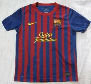 brand new 08caa 6f32c Details about FC BARCELONA home jersey shirt NIKE BARCA JUNIOR/ BOY M  /140-152cm /10-12 yrs