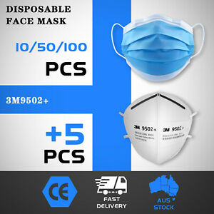 50/100pcs Disposable Face Mask Protective Mouth Masks 3 Layer Meltblown Filter