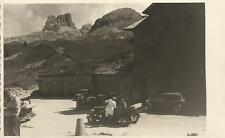 FOTOGRAFIA ORIGINALE_ PASSO FALZAREGO _ BELLUNO _AGOSTO 1936_ AUTOMOBILI D'EPOCA