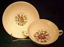 WEDGWOOD china CONWAY AK8384 pattern Cream Soup Bowl & Saucer